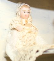 #19C Baby in Christening Gown 1-1/4""