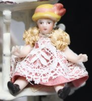 #745 Dressed Dolls' Doll 1-1/2""