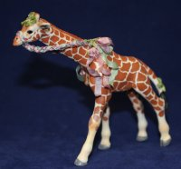 Small Giraffe with Silk Ribbons